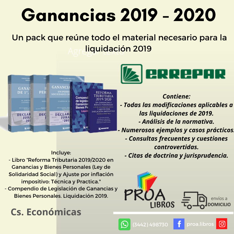 ✅ PACK: GANANCIAS 2019/2020
